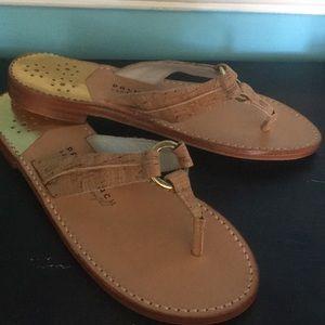 BNWT - Palm Beach Hibiscus Cork/Gold Sandal